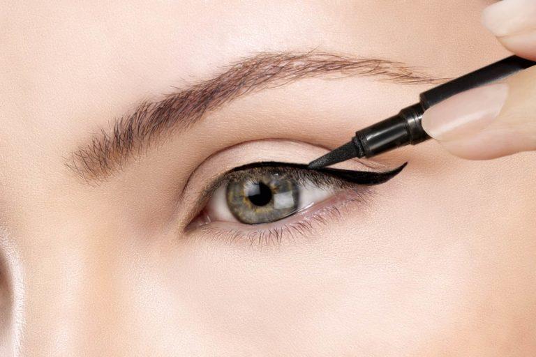 Eyeliner closeup on eye